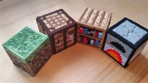 minecraft  plastic canvas starter set  plushie toy