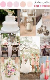 Wedding color palette pastel wedding color scheme rustic wedding pink