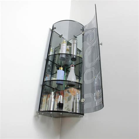 glass bathroom corner shelves corner glass shelves images