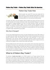 pattern day trading rules pattern day trader pattern day trader rules un american