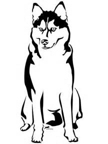 husky coloring pages alaskan husky graphic sticker personalize on line