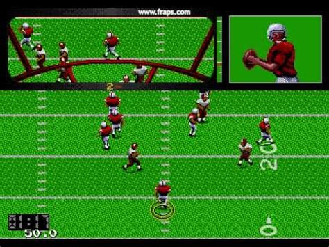 sega genesis football joe montana football sega genesis