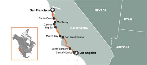 Map Of Pch From La To San Francisco - 5 incredible american road trips travel nation blog