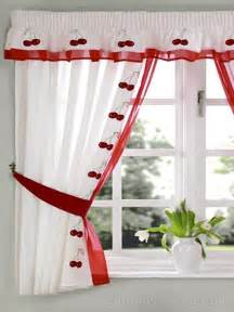 cherry kitchen curtains white cherry embroidered kitchen curtain pelmet
