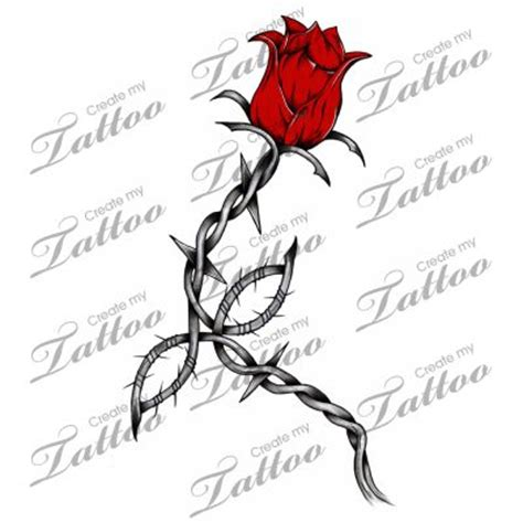 rose and barbed wire tattoo collection of 25 barbed wire skull and roses design