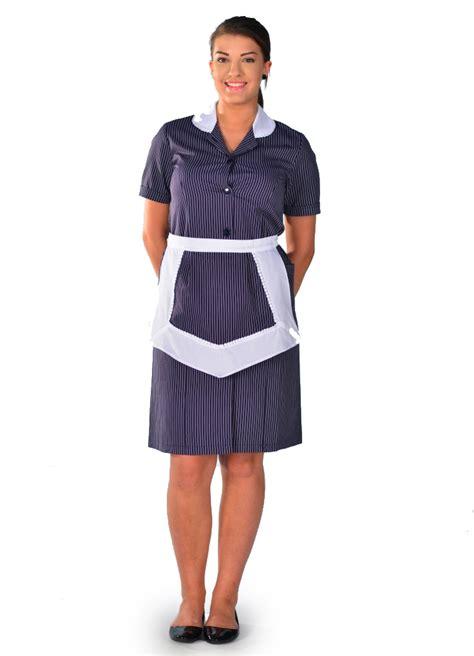 d馮uisement femme de chambre blouse femme de chambre 224 manches courtes rayure carlton