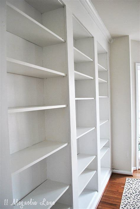 create    high  built  bookcases   empty