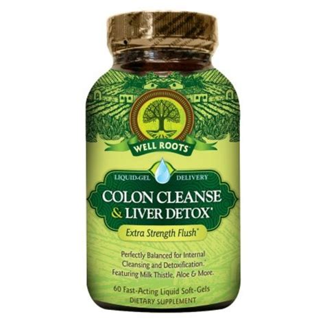 Colon Detox Reviews by Well Roots Colon Cleanse Liver Detox Softgels 60 Ea