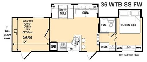 thor toy hauler floor plans used fifth wheel toyhauler thor rvs and motorhomes for