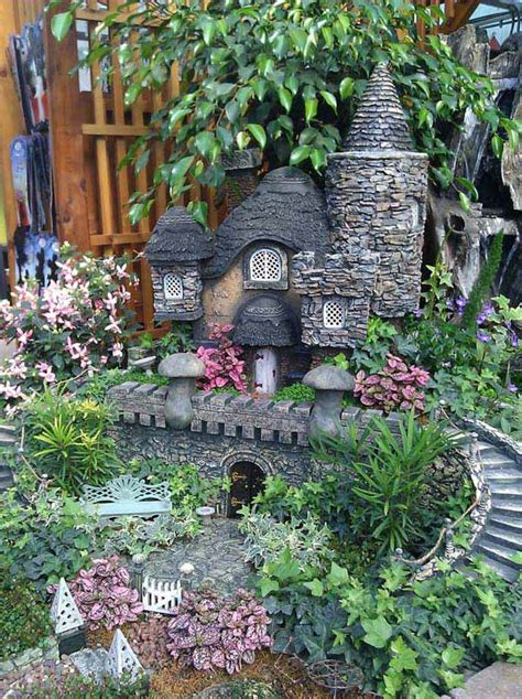 15 Mind Blowing Miniature Stone Houses To Make Your Garden Miniature Rock Garden
