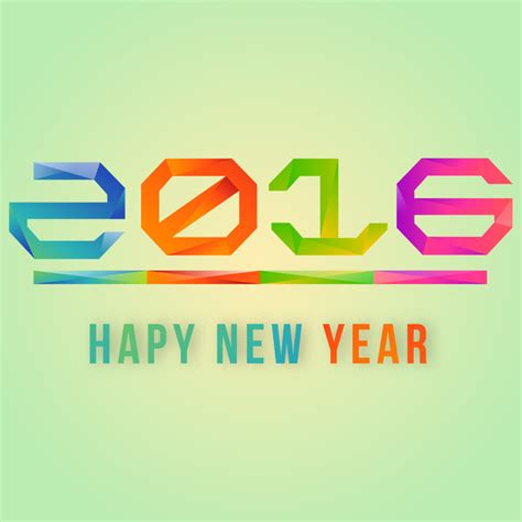 new year 2016 graphic design happy new year 2016 free vector in adobe illustrator ai
