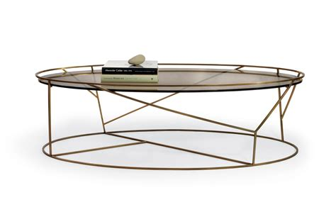 oval coffee tables glass top zila contemporary brushed