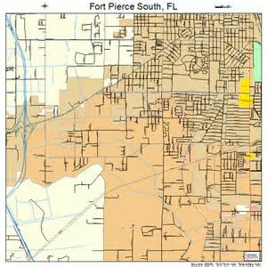 Fort Pierce Florida Map by Fort Pierce South Florida Street Map 1224387