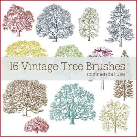 tree pattern brush photoshop tree photoshop brushes 700 free clip art for nature designs