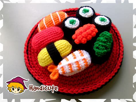 amigurumi sushi pattern sushi set amigurumi by imuya on deviantart