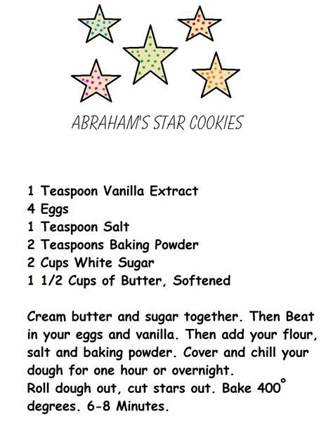 printable recipes for sugar cookies abrahams children like stars recipe