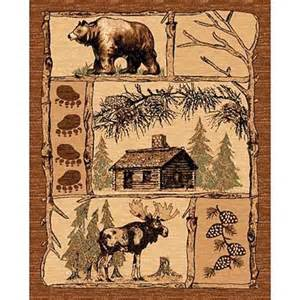 Log Cabin Area Rugs Rustic Area Rug Log Cabin