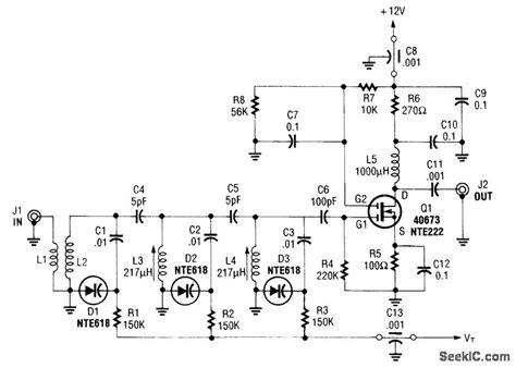 varactor diode in tuning circuits varactor tuned preselector basic circuit circuit diagram seekic