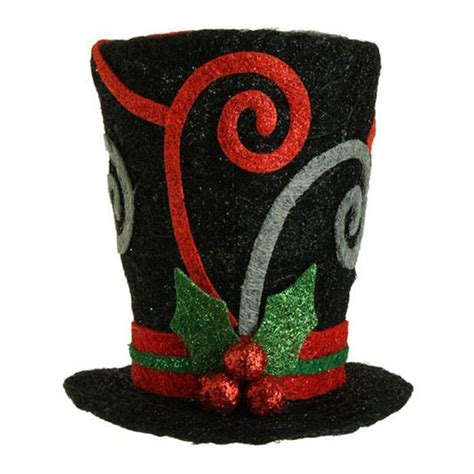 raz black swirl top hat holiday on ice collection