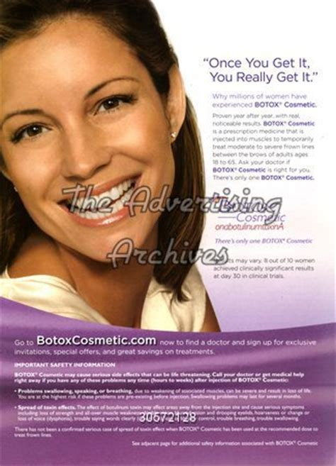 ad courtesy of e news 2010 photos of anistons lolavie promotion the advertising archives magazine advert botox