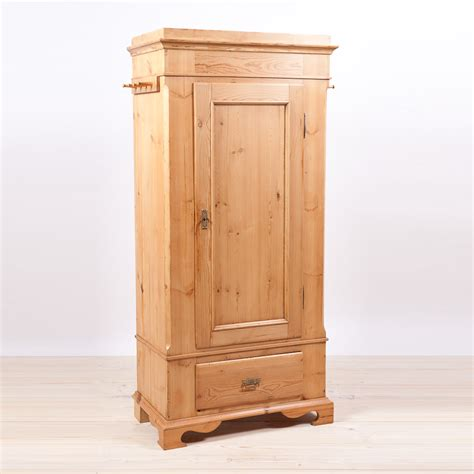 Single Door Danish Wardrobe Armoire In Pine C 1845 Bonnin Ashley Antiques Miami Fl