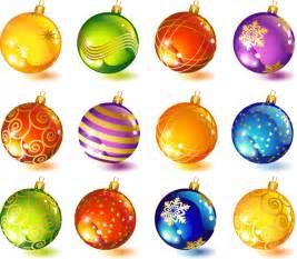 beautiful christmas ornaments vector free vector 4vector