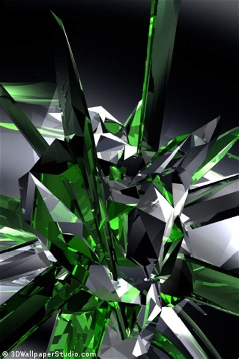 wallpaper crystal green emerald crystals wallpapers 320x480