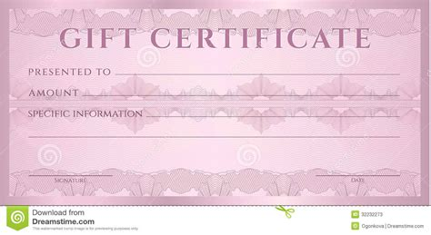 gift certificate voucher coupon template stock vector illustration  color decoration