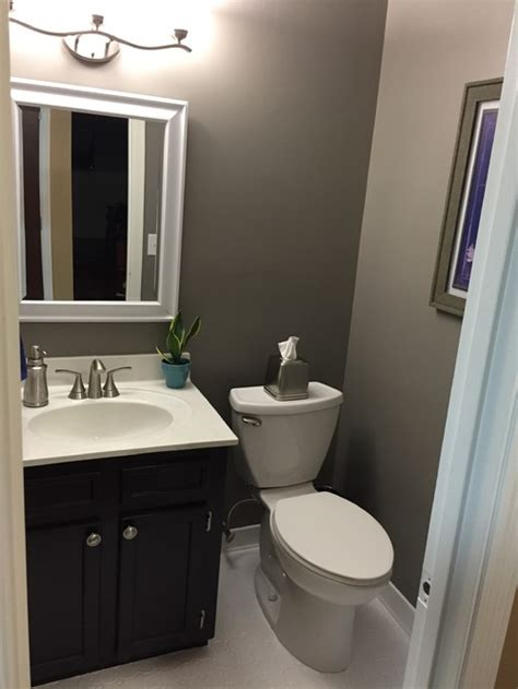 diy guest bathroom remodel powder room diy on a budget