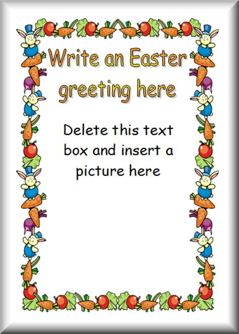 easter card inserts templates easter