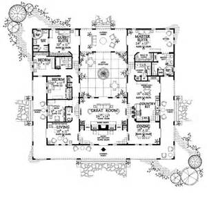 House Plans With Atrium In Center Houseplans Floor Plan Plan 72 177 I Always
