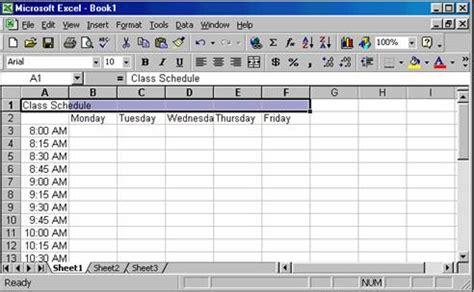 create timetable creating a class schedule using excel