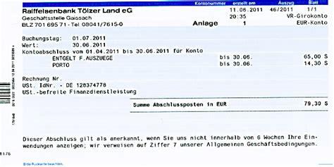 vr bank nordröhn kontoauszug entgelt f 252 r ausz 252 ge bank geb 252 hr kosten flickr