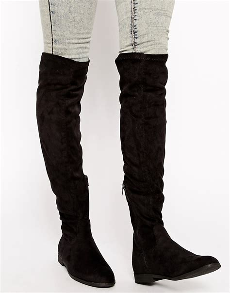 blink blink the knee flat boots at asos