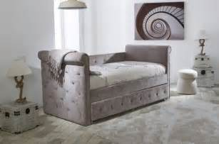 Single Day Bed by Limelight Beds Zodiac Mink Fabric Single Day Bed With Trundle