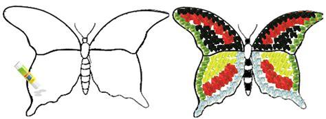 membuat kolase gambar hewan membuat kolase kupu kupu mikirbae