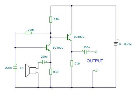 rangkaian mikrofon speaker gambar skema rangkaian