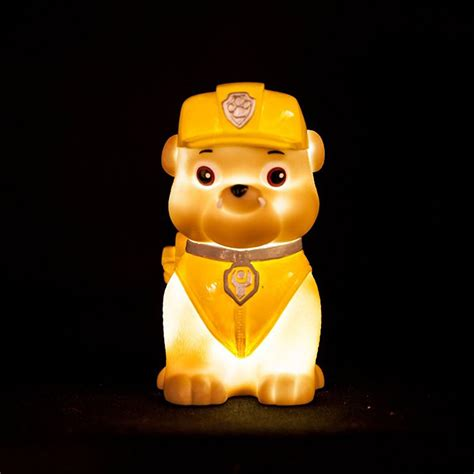 paw patrol light up scooter paw patrol quot rubble quot illumi mate led colour changing
