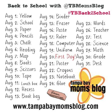challenge school back to school photo a day challenge tbback2school with
