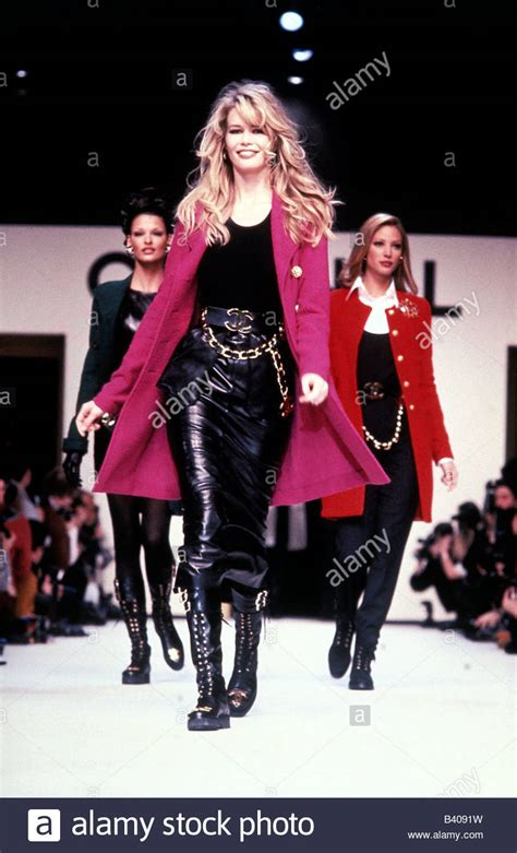 Catwalk To Carpet Schiffer In Chanel by Fashion Schiffer Length On Catwalk