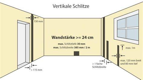 Le Anschließen 4 Kabel Decke by Elektroinstallation Wand Schlitzen Wie Tief Darfs Denn
