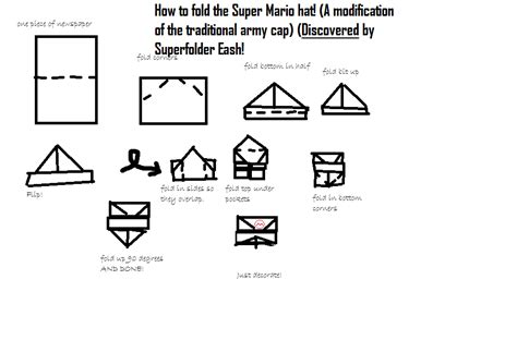 How To Make Origami Mario - superfolder eash s discovered origami mario hat