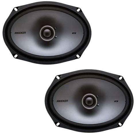 Speaker X9 kicker ksc69 6 quot x9 quot ks series 2 way coaxial speaker package with bass blocker pair hpca kicker 196