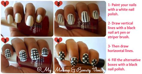nail art checkered tutorial my makeup and beauty vanity checkered nail art tutorial