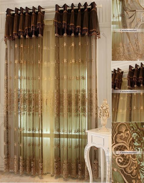 chocolate sheer curtains embroidered sheer curtains are great choice for european