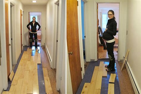 Racking Hardwood Floors by Learning How To Rack Our Maple Hardwood Flooring Merrypad