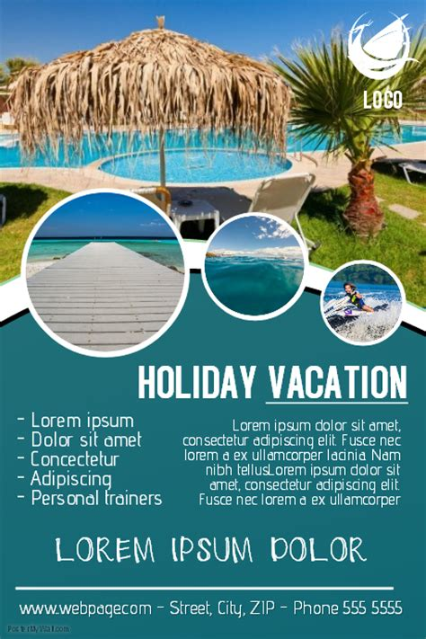 vacation traveling flyer template postermywall