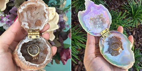 geode engagement ring box geode ring boxes unique engagement ring boxes