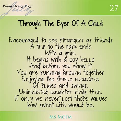a poem about childhood dailypoemproject day 27 ms