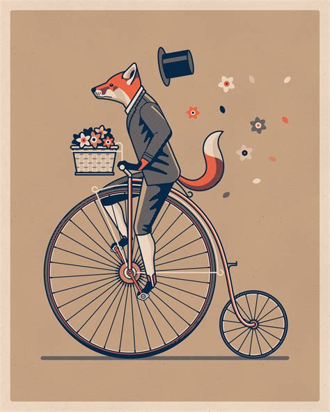 printable art penny farthing art print dkng